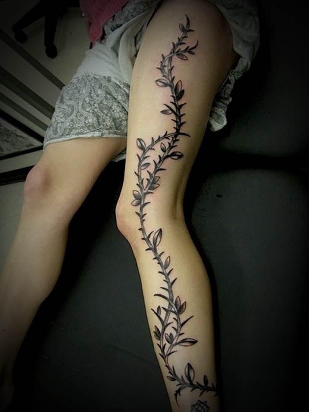 Sexy Leg Tattoo Designs for Women (28)