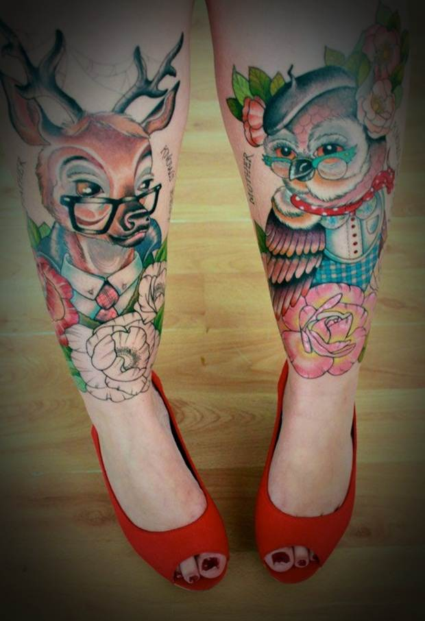 Sexy Leg Tattoo Designs for Women (23)