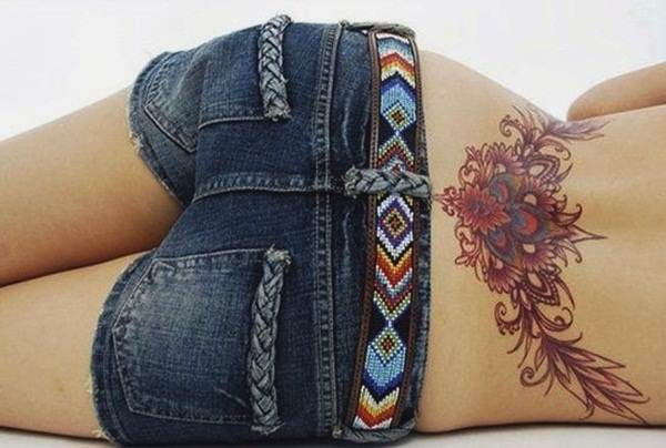Lower back tattoo designs for women14