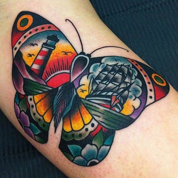 Cute Butterfly tattoo designs9