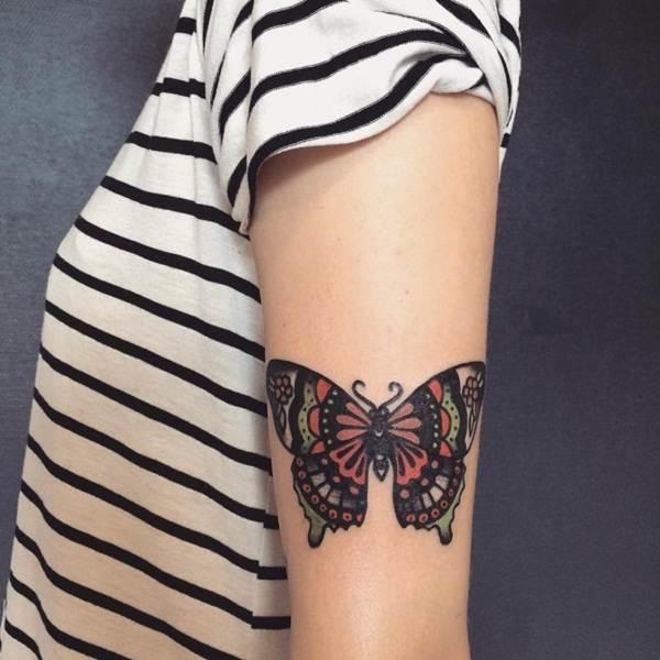 Cute Butterfly tattoo designs53