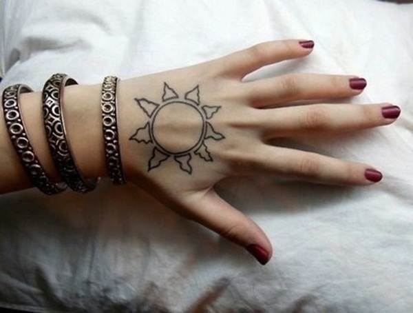 sexy sun tattoo designs 70