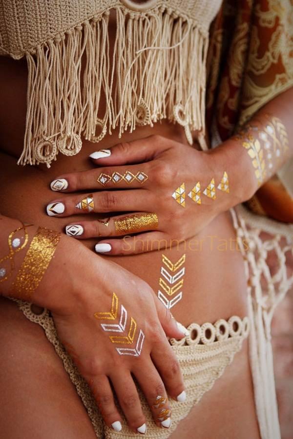 metallic tattoo designs for women10