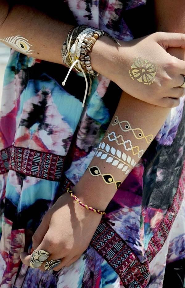 metallic tattoo designs for women12