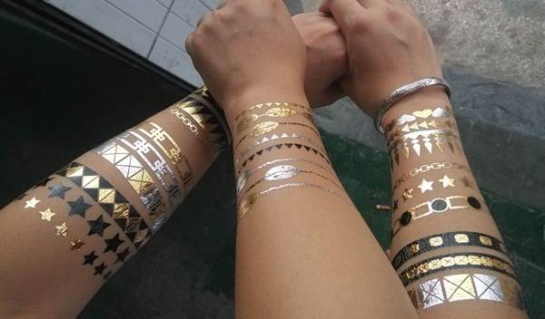 metallic tattoo designs for women15