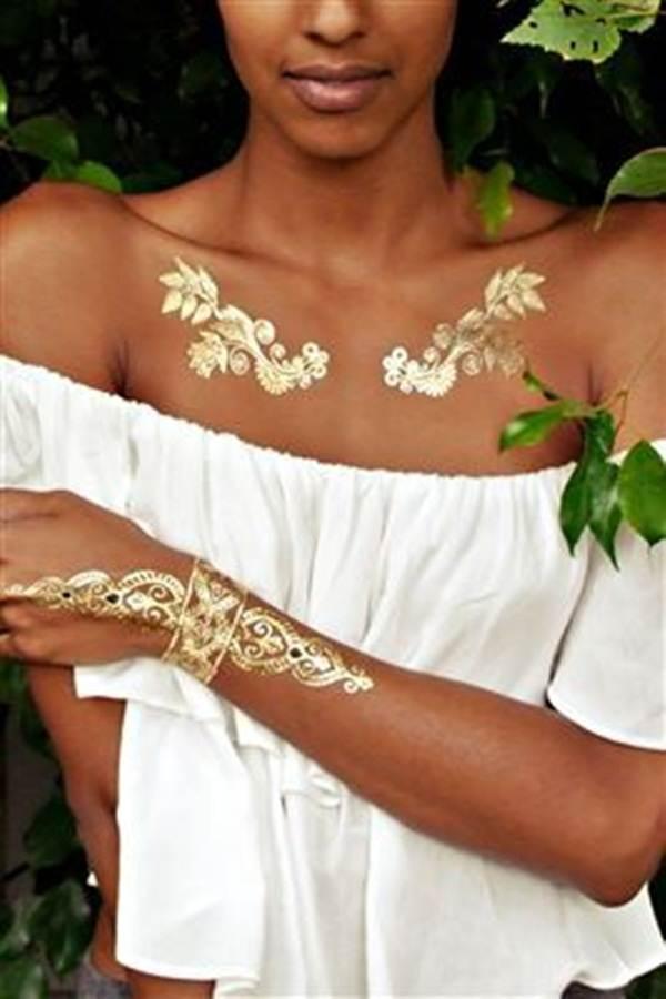 metallic tattoo designs for women17