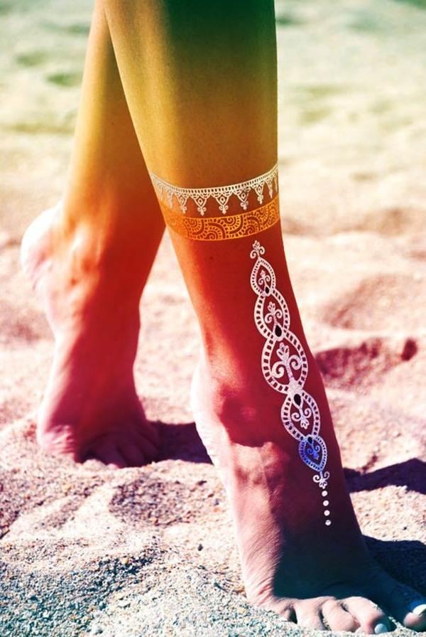metallic tattoo designs for women21