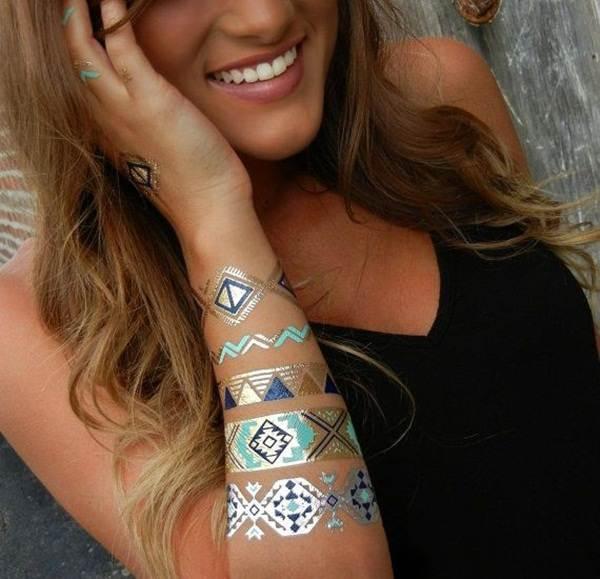 metallic tattoo designs for women5