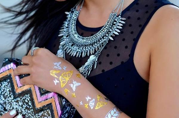 metallic tattoo designs for women8