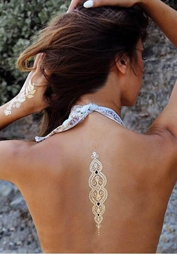 metallic tattoo designs for women33