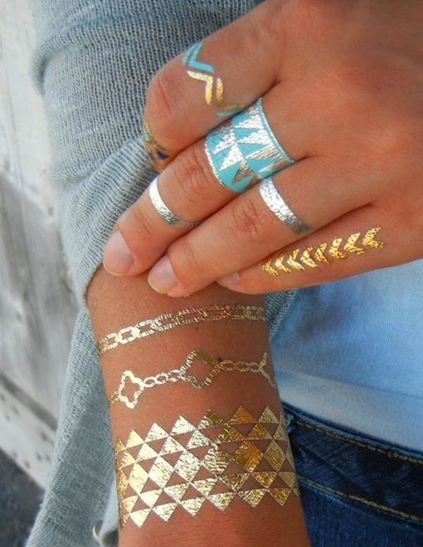 metallic tattoo designs for women37