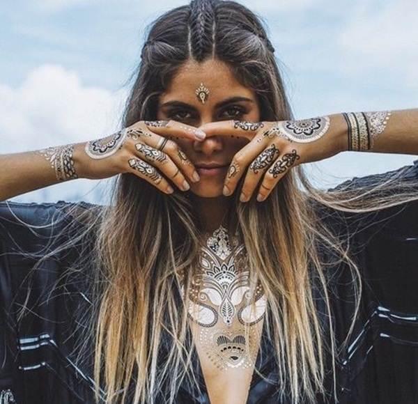 metallic tattoo designs for women39