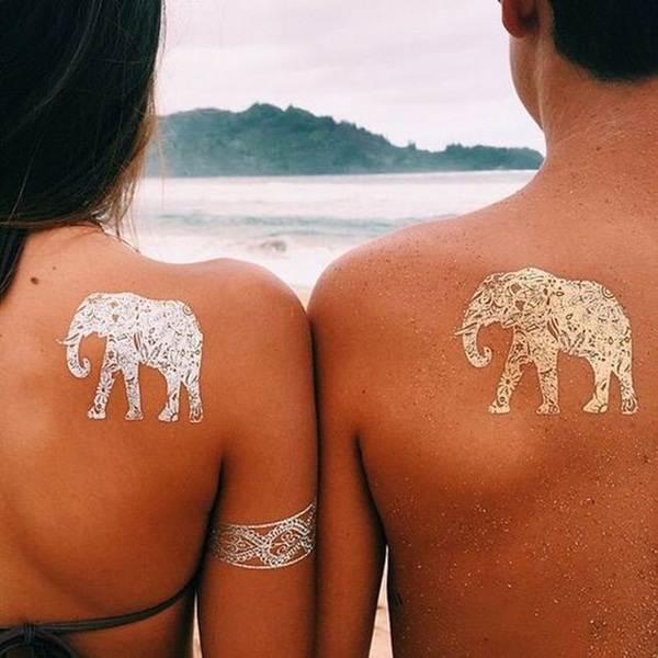 metallic tattoo designs for women40