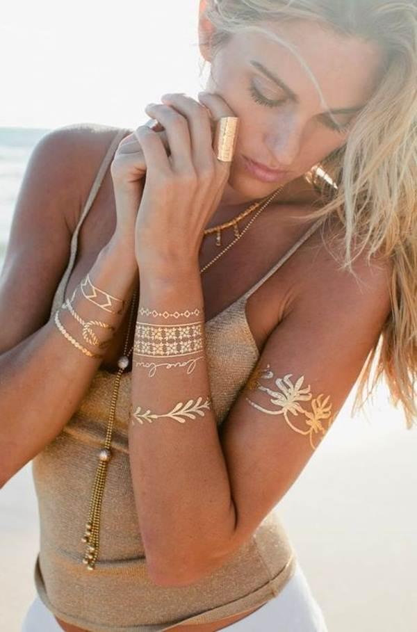 metallic tattoo designs for women41