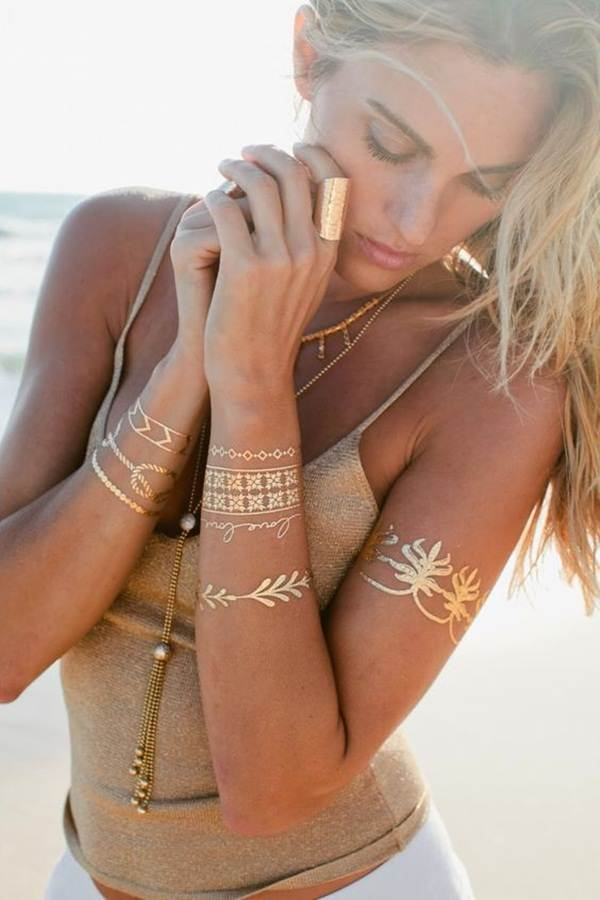 metallic tattoo designs for women23