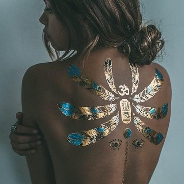 metallic tattoo designs for women45