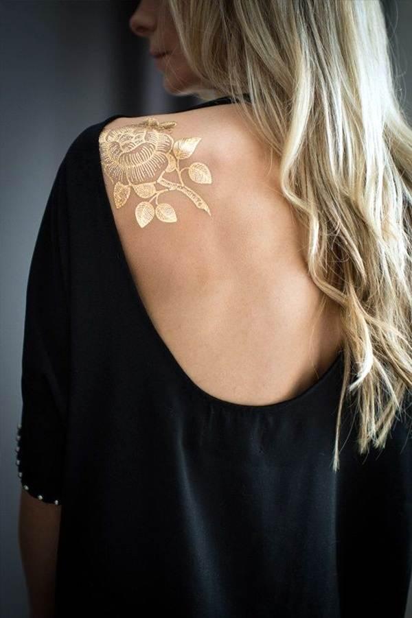 metallic tattoo designs for women54