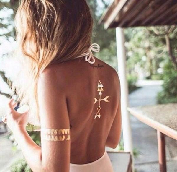 metallic tattoo designs for women57
