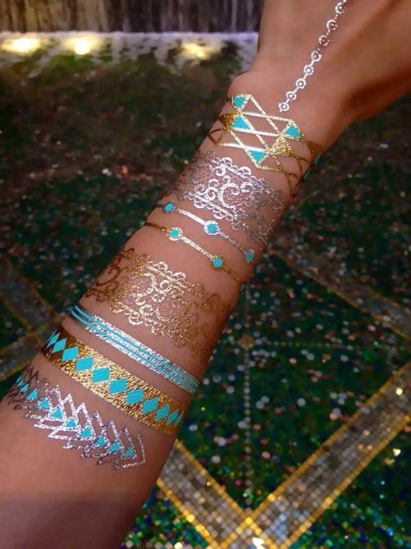 metallic tattoo designs for women67
