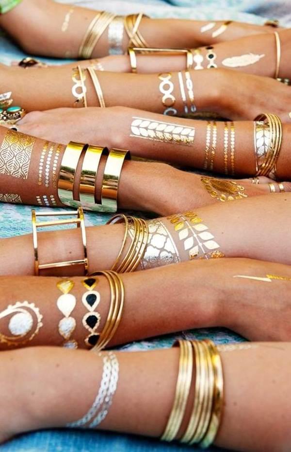 metallic tattoo designs for women28