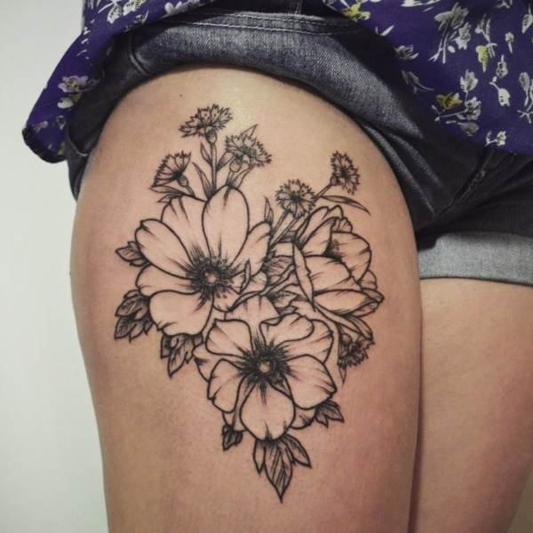 Beautiful Floral Tattoos Designs that'll blow your Mind0461