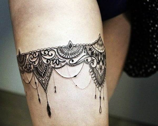 Lace Tattoos Designs and Ideas (28)
