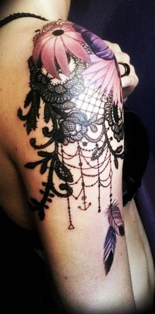 Lace Tattoos Designs and Ideas (6)