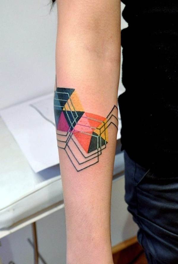 Geometric tattoo designs and ideas7