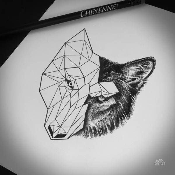 Geometric tattoo designs and ideas34