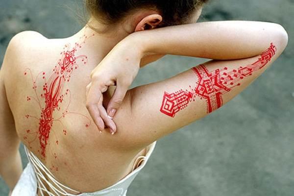 Geometric tattoo designs and ideas42