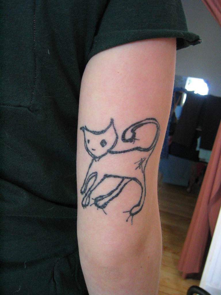 Cat Tattoo Design.12