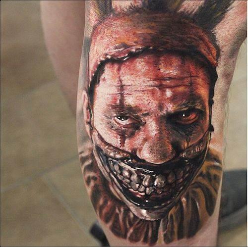 Scary Clown Tattoo Designs