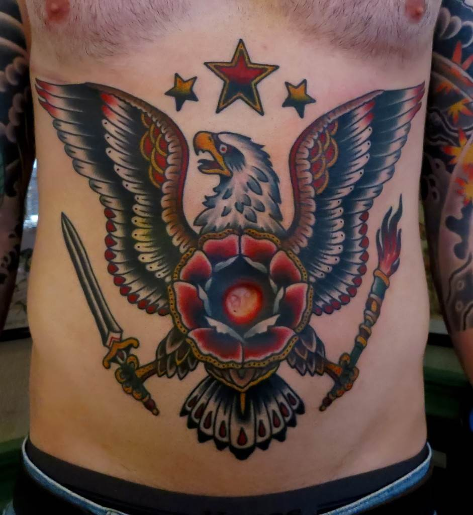 Eagle Belly Tattoo