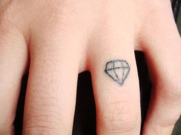 Diamond Ring Tattoo Design
