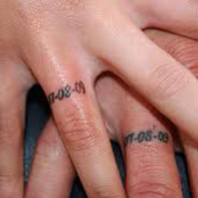 Wedding Date Tattoo Design