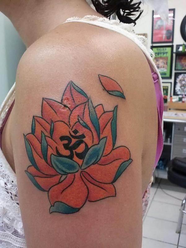 Om and lotus Tattoo