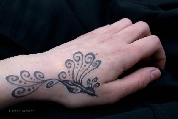 Hand tattoo design