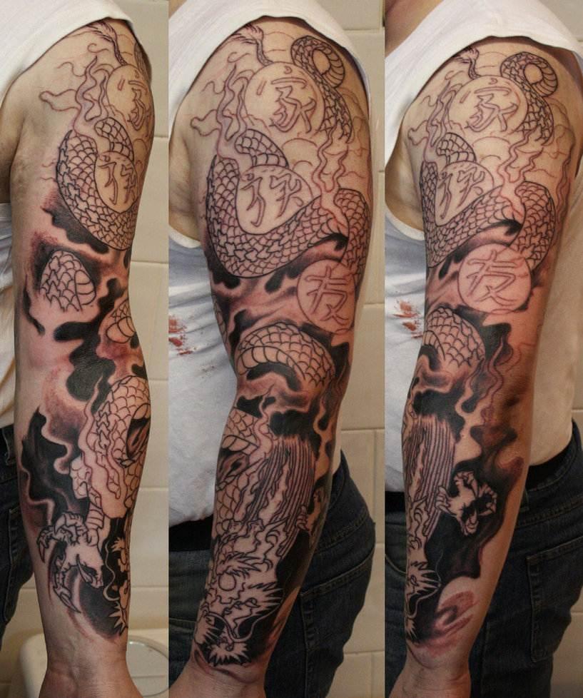 Dragon sleeve WIP
