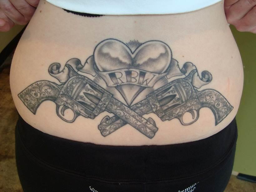 Gun Tattoo Designs-14