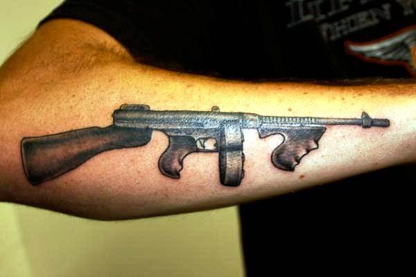 Gun Tattoo Designs-17