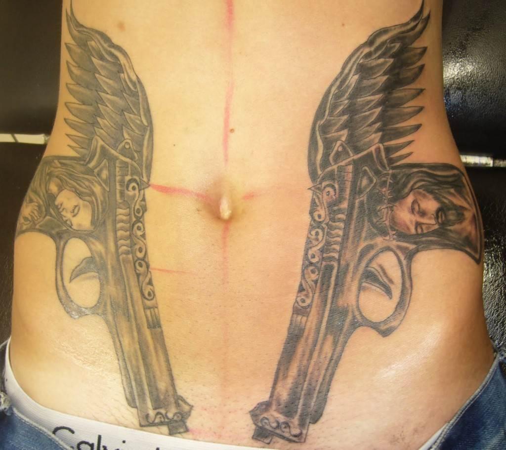 Gun Tattoo Designs-23