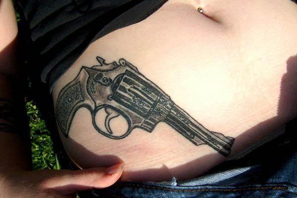Gun Tattoo Designs-35