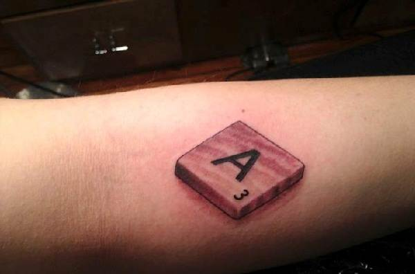 3D Scrabble Piece