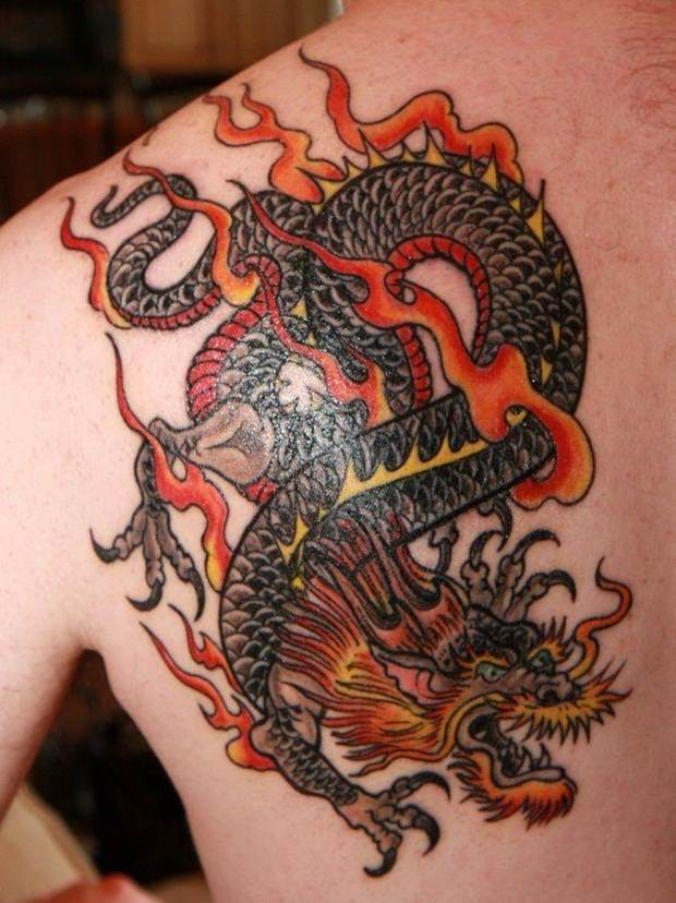 Dragon tattoos (4)