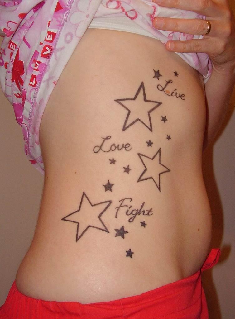 Beautiful Star tattoo Designs for Women