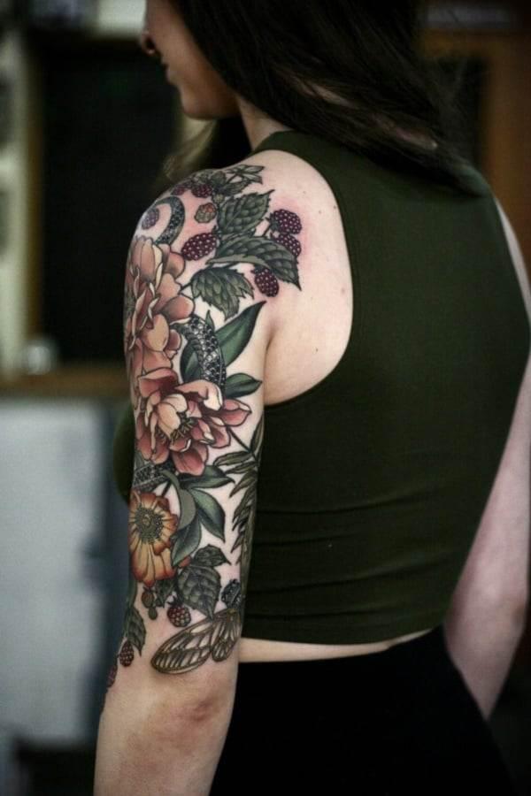 full sleeve tattoo girls