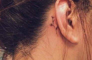Pretty Behind the Ear Tattoos