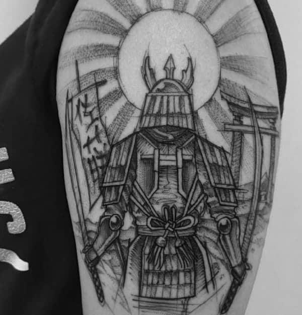 sketch-tattoos-ideassketchy-samurai-tattoo-on-shoulder-by-ricardo-da-maia