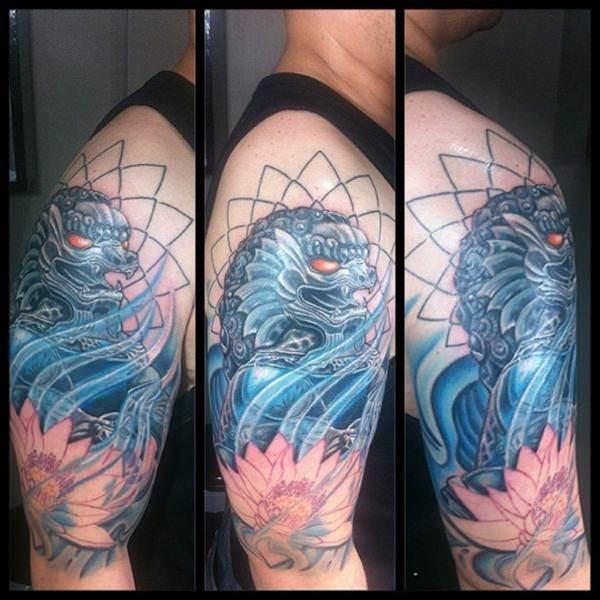 foo dog tattoos 38
