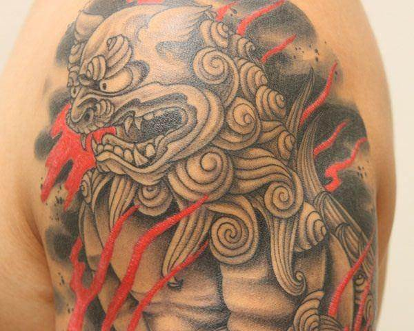 foo dog tattoos 2